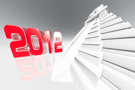 2012 Maya Prediction Concept 3D render  Stock Photo - 12062727