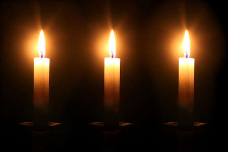 mistic: Candles in the dark  Stock Photo
