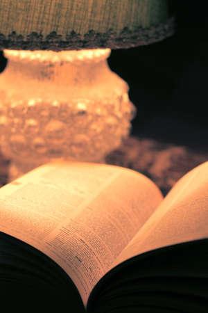artisitc: Book under lamp