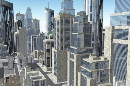 Metropolis 3D render photo