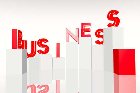 Business Concept Graphs 3D render Stock Photo - 12302454
