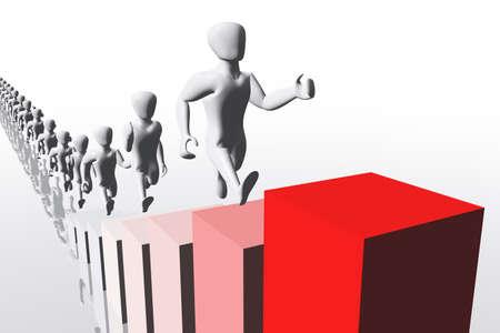 Business Concept Career 3D render