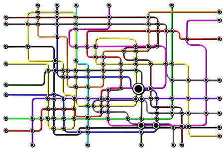 Subway Network Connections Stock Photo - 12302480