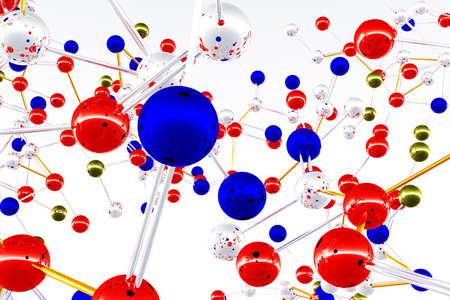 covalent: Complex Molecule Structure 3D render