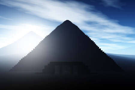 mystique: Mystique Egyptian Pyramid 3D render