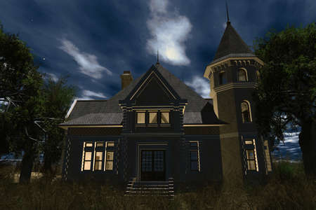 Scary House 3D render photo
