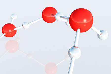 Water Molecules 3D render photo