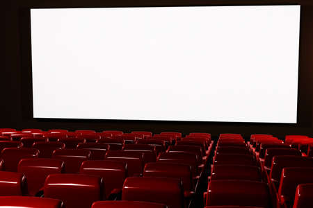 Cinema Auditorium Interior 3D render