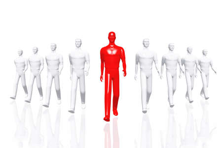 Teamwork Leader Business Concept 3D render Stock Photo - 12453286