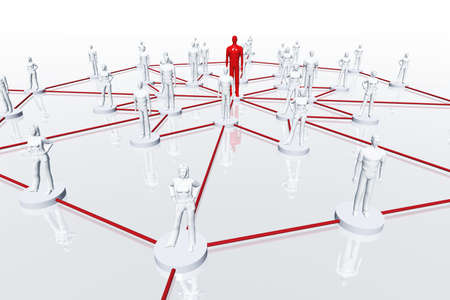 Network Connections Inner Circle 3D render Stock Photo - 12453300