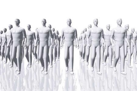 disciplina: El trabajo en equipo de negocios Concepto 3D render