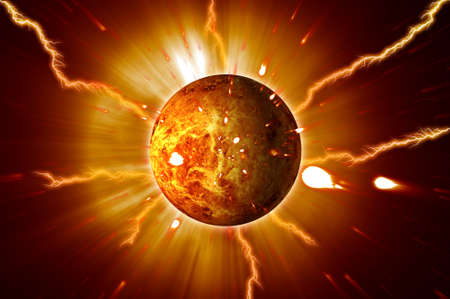 Red Planet Eruptions Storms Stock Photo - 12937278