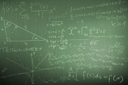 theory: Science Mathematics Physics Illustration  Stock Photo