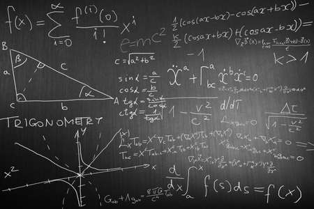 theorem: Science Mathematics Physics Illustration  Stock Photo