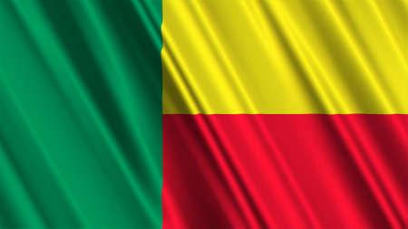 benin: Benin Flag Stock Photo