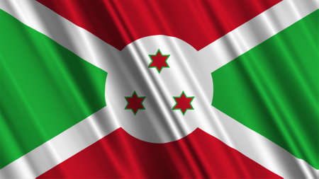 burundi: Burundi Flag Stock Photo