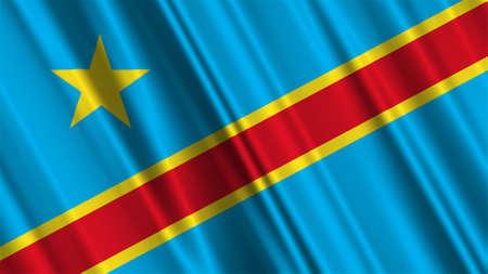 democratic: Congo Democratic Republic Flag Stock Photo