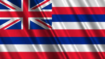 hawaii flag: Hawaii Flag Stock Photo