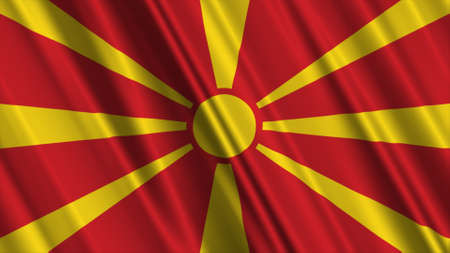 macedonia: Macedonia Flag Stock Photo