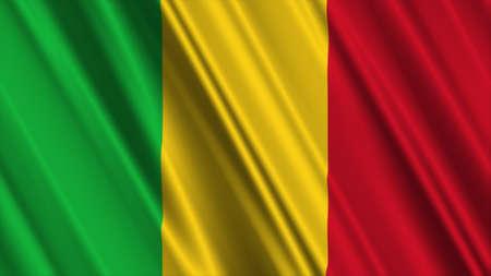 mali: Mali Flag Stock Photo