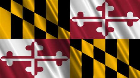 Maryland Flag Banque d'images