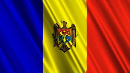 Moldova Flag Stock Photo