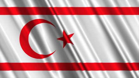 cyprus: Northern Cyprus Flag Stock Photo