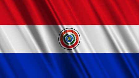 Paraguay flag: Bandera de Paraguay Foto de archivo