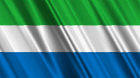 sierra: Sierra Leone Flag