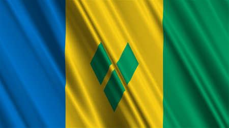 grenadines: Saint Vincent and the Grenadines Flag