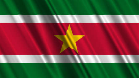 Suriname: Suriname Flag Stock Photo