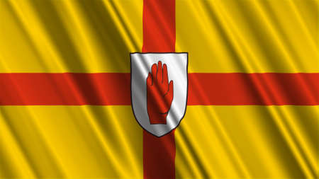 ulster: Ulster 9 Province Northern Ireland Flag Stock Photo