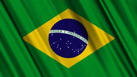 brazilian: Brazil Flag Stock Photo