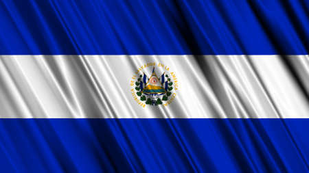 Bandera de El Salvador photo