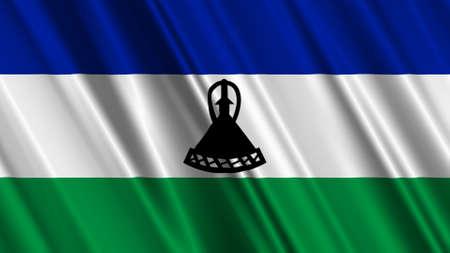lesotho: Lesotho Flag