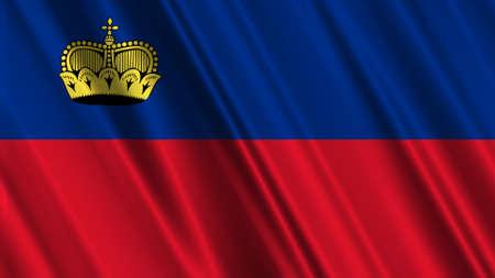 liechtenstein: Liechtenstein Flag Stock Photo
