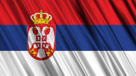 serbia flag: Serbia Flag Stock Photo