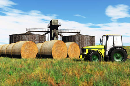 Agriculture Concept 3D render Stock Photo - 17168641