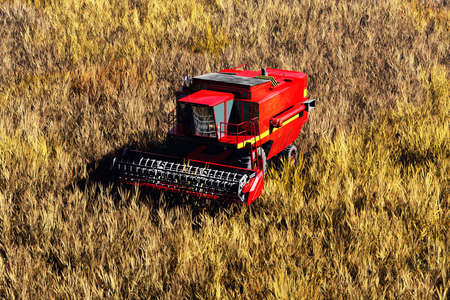 Agriculture Harvester Concept 3D render photo