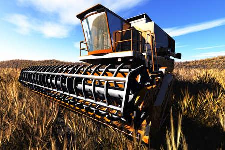 Agriculture Harvester Concept 3D render photo