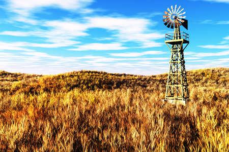 rancho: Meadow Agricultura concepto 3D render Foto de archivo