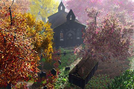 crypt: Cemetery Crypt 3D render