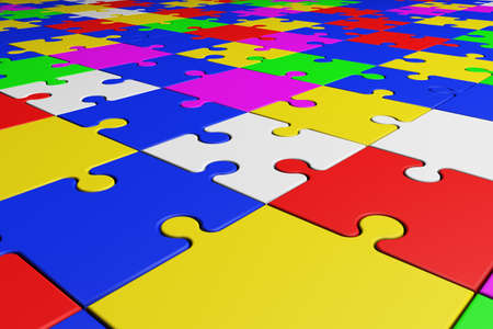 logical: Puzzle Connection Logical Intelligence Concept Stock Photo