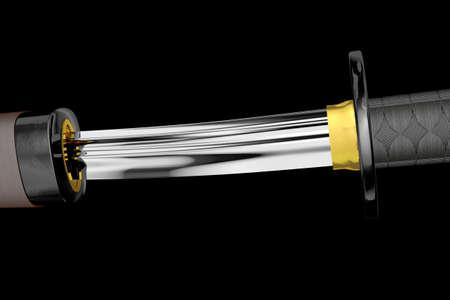 Samurai Katana 3D artwork