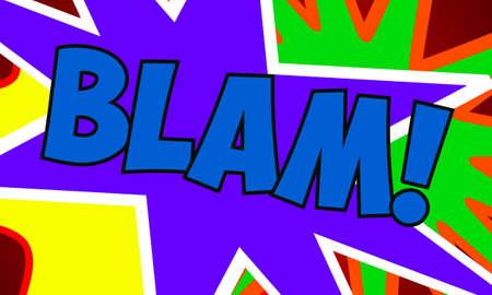 slap: Comic Design Stock Photo