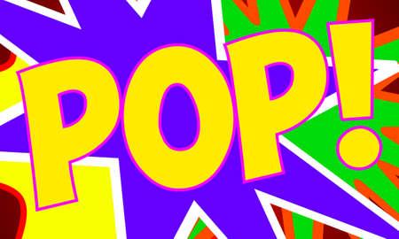 kapow: Comic Design Stock Photo