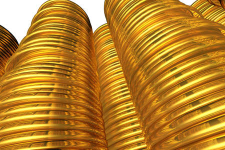 ductile: Golden Coins 3D illustration