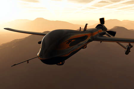 MQ1 Predator Type Drone 3D artwork