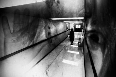 Scary Horror Hospital Corridor Banque d'images