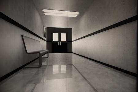 x files: Scary Horror Hospital Corridor Stock Photo